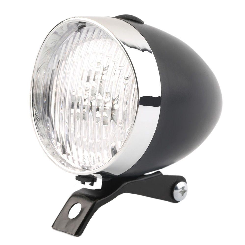Retro Fahrrad Bike 3 LED Front Licht Scheinwerfer Vintage Taschenlampe Lampe Neues freies verschiffen