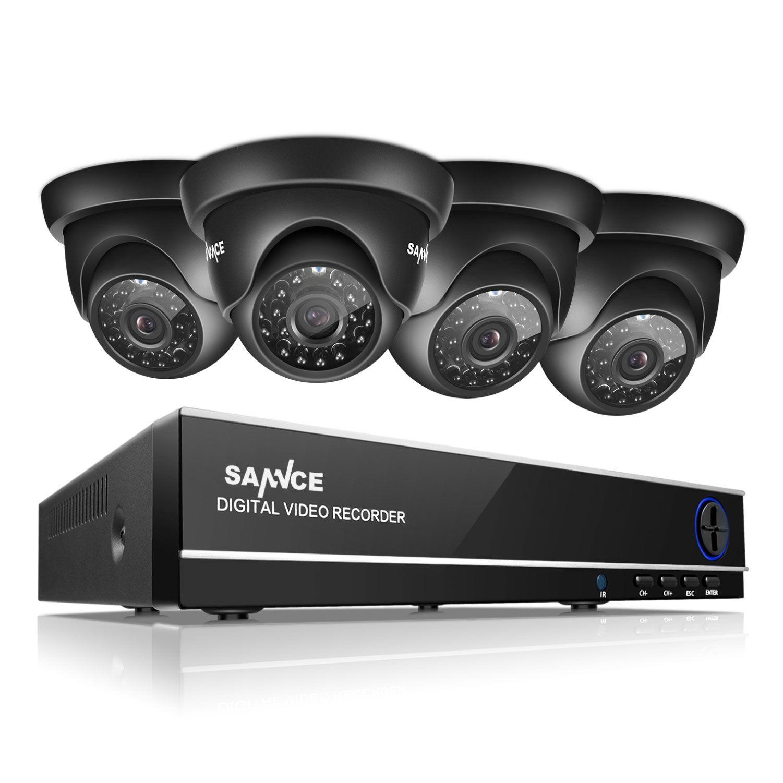 Sannce 8ch TVI HDMI 4 в 1 Hybrid DVR HVR 1.0 МП видеонаблюдения Открытый Системы Скрытого видеонаблюдения комплект с 4 камеры