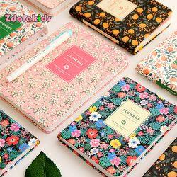 Nueva Llegada de piel Linda de LA PU Floral Flor Libro del Horario Diario Semanal Planificador Cuaderno Escuela material de Oficina Papelería Kawaii
