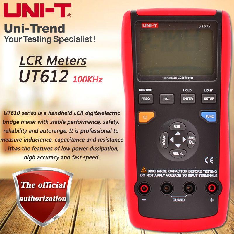 UNI-T UT612 Handheld LCR Digitale Brücke Meter Induktivitäten/Kondensatoren/Widerstand Tester Daten Lagerung USB Daten Transfer Hintergrundbeleuchtung
