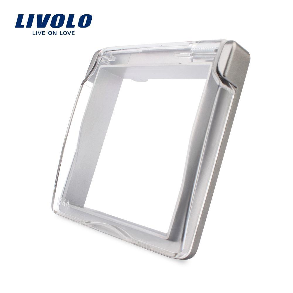 Livolo EU Standard Buchse Wasserdichte Abdeckung, Kunststoff Dekorative Für Sockel, Grau farbe, C7-1WF-15, nicht enthalten die steckdosen.