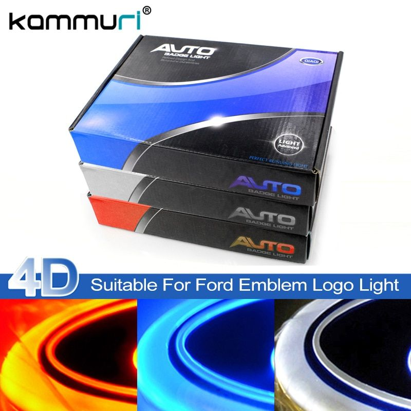 KAMMURI 4D led car emblem badge light for Ford focus 2 3 Kuga Fusion Fiesta Escape Ranger Mustang Mondeo Galaxy Badge Logo Light