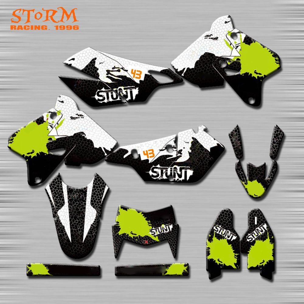 Decals Graphics With Matching Backgounds Customize Stickers Kits For SUZUKI DRZ400SM RM125 RM250 RMZ250 RMZ450 RMX DR DRZ