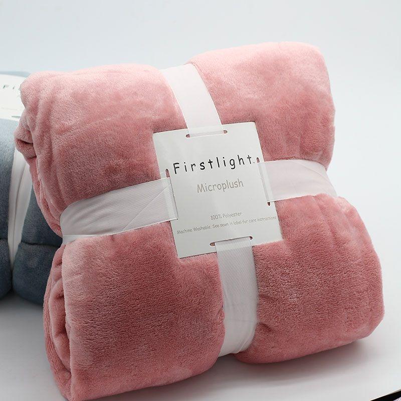 Flanelle polaire grande couverture rose roi reine taille couverture De lit pour lit canapé canapé canapé Cobertor Para Inverno Mantas De Cama