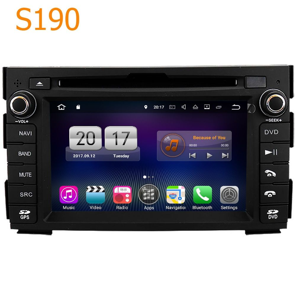 Road Top Winca S190 Android 7.1 System PX3 4 Core CPU Car GPS DVD Player Head Unit Sat Nav for Kia Ceed Venga 2010 - 2012