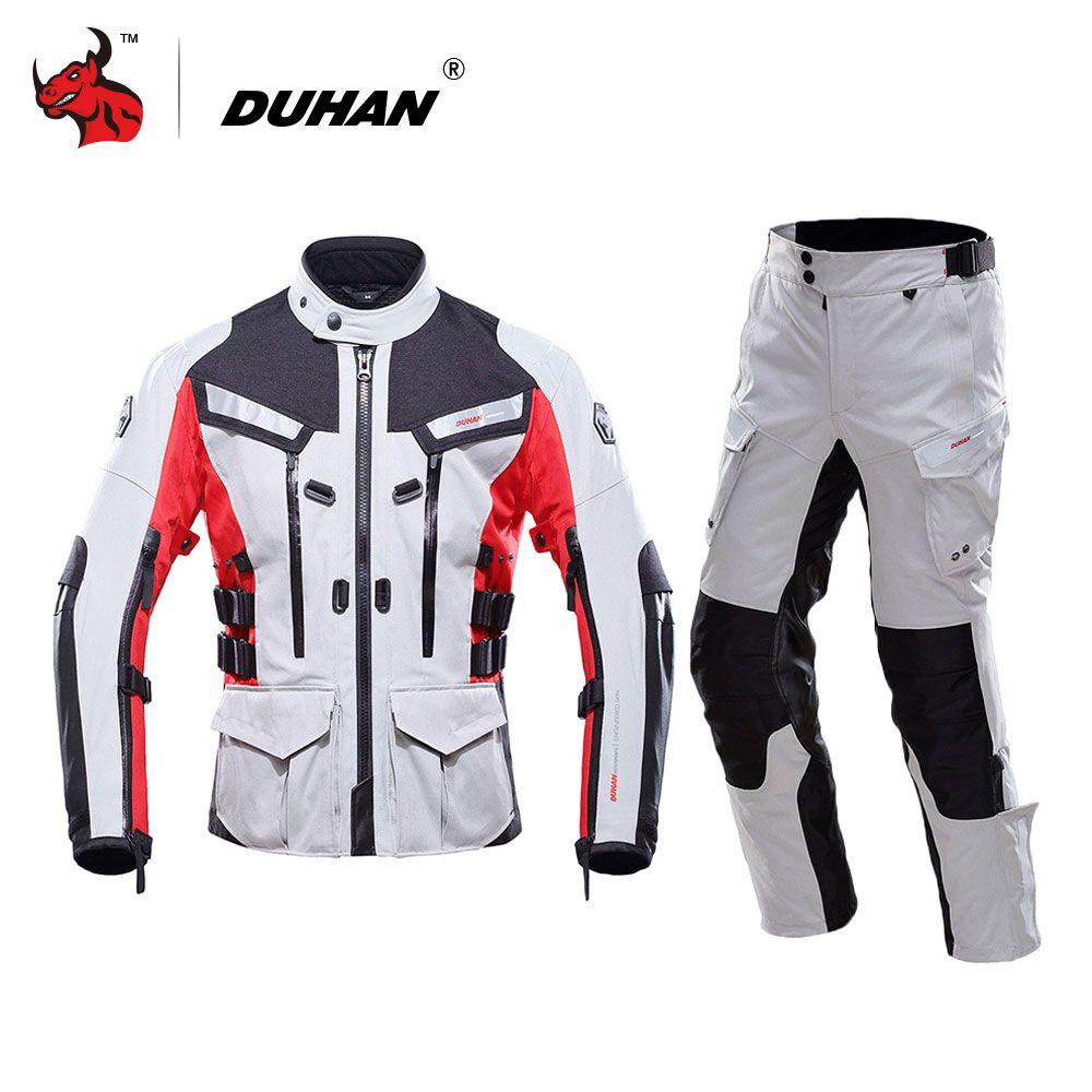 DUHAN Waterproof Motorcycle Jacket Traje Motociclismo Motocross Jacket Moto Racing Jacket Pants Blouson Moto Protective Gear