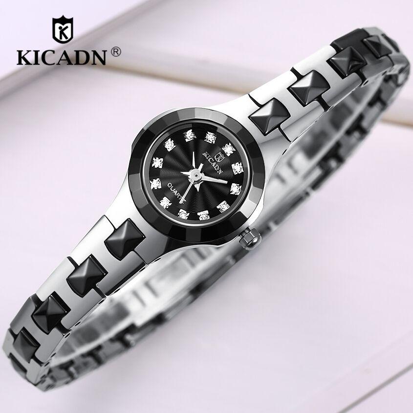 Ladies Fashion Wristwatches Women Luxury Bracelet Analog Quartz Watches KICADN Small Watch Clock relogio feminino reloj mujer