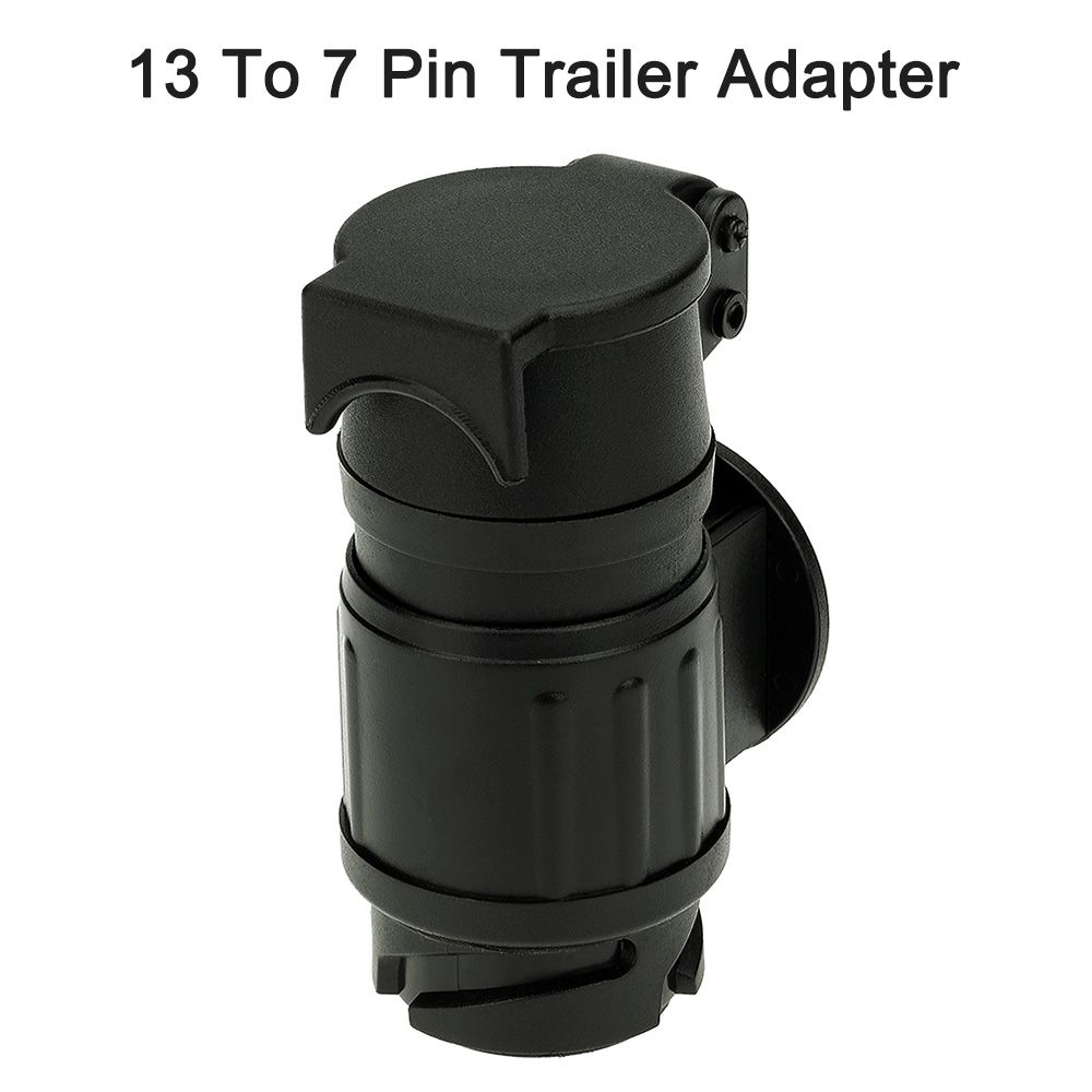 13 To 7 Pin Trailer Adapter Frosted Trailer Wiring Connector 12V Tow Bar Towing Plug N Type