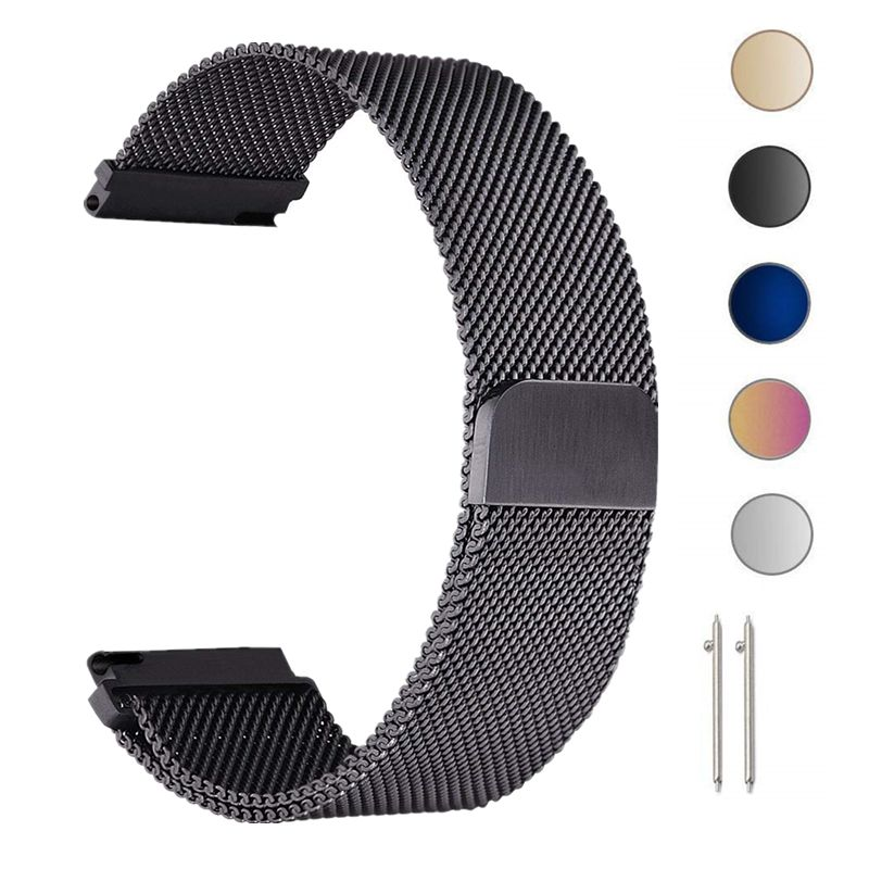 22mm Milanese Loop Strap For Samsung Gear S3 Galaxy Watch 46MM 42MM Active Band 20mm Stainless Steel Band for Gear S2 Amazfit