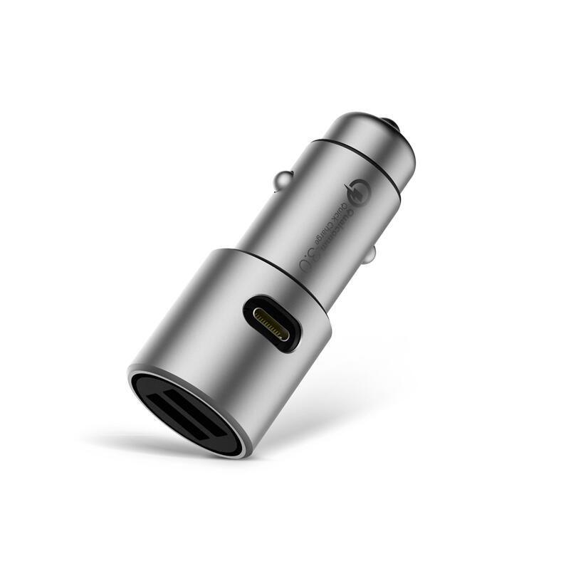 Max 36 W Original Xiaomi chargeur de voiture QC3.0 X2 plein métal double USB contrôle intelligent rapide Charge rapide 5 V = 3A * 2 ou 9 V = 2A * 2 12 V = 1.5A * 2