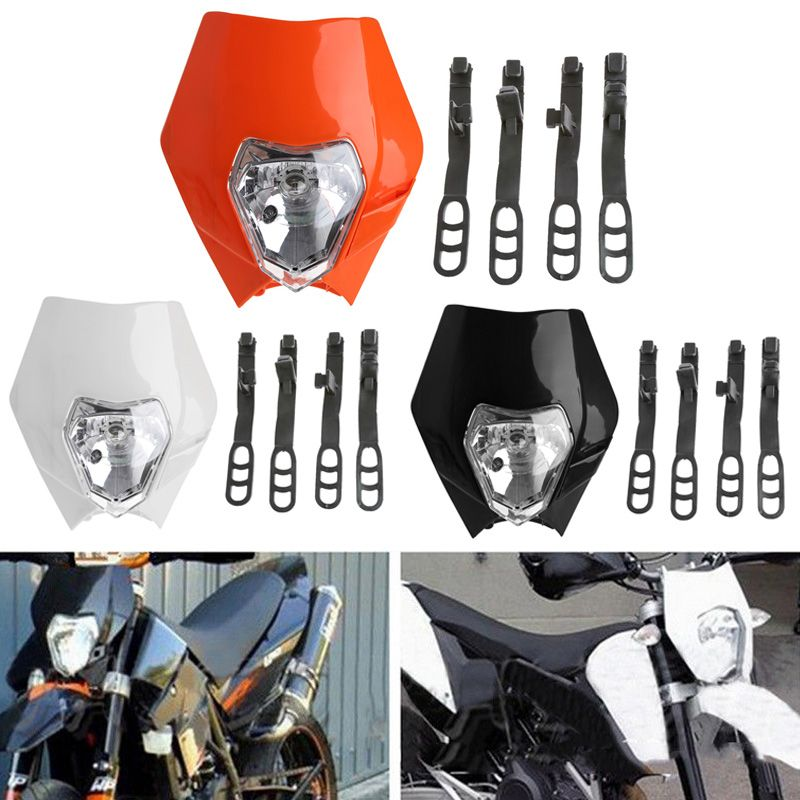 Universal Motorcycle Bike Head Light Dirt Protect Cover Motocross Supermoto Headlight for KTM SX EXC XCF Headlamp CSL2017