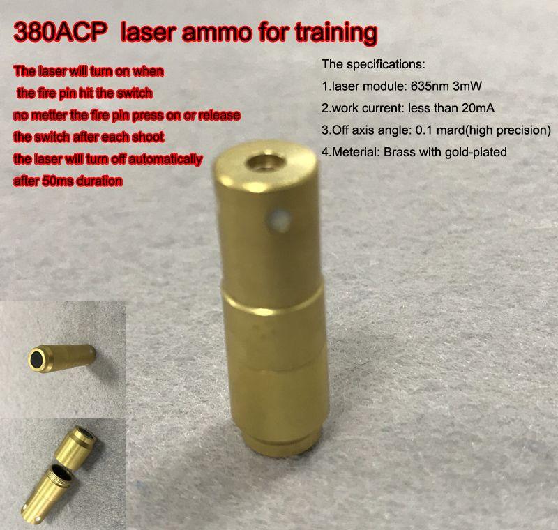 380ACP mit 50 msek verzögerung Laser Ammo, Laser Kugel, Laser Patrone für Trockene Feuer ausbildung und schießen simulation