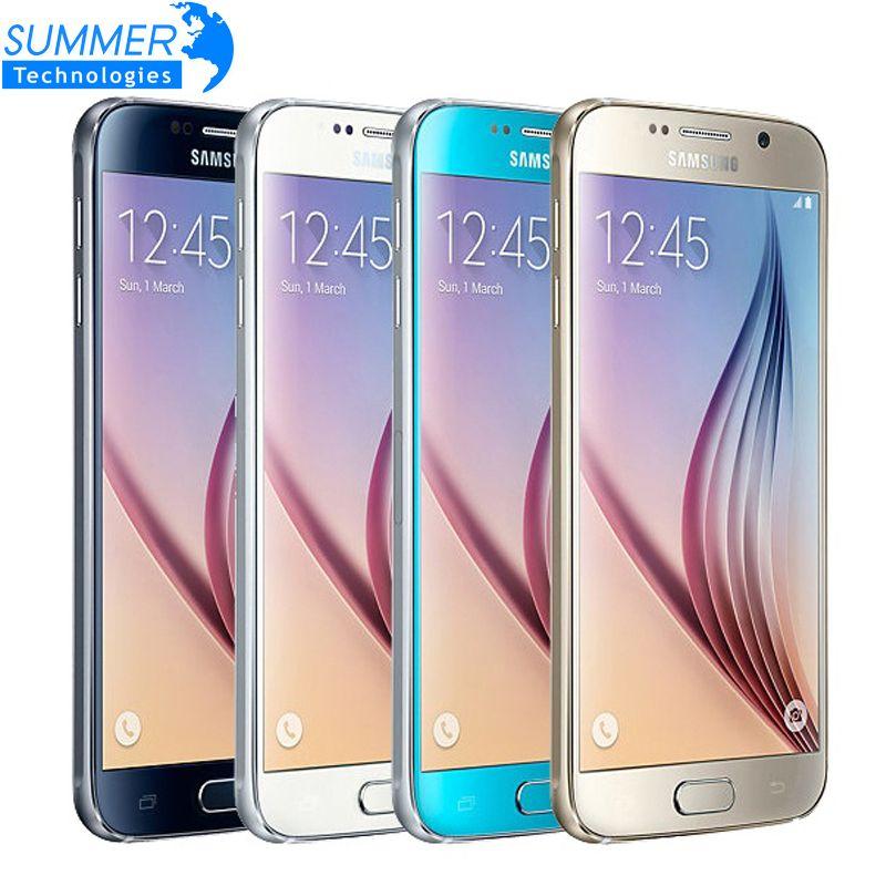 Débloqué Original Samsung Galaxy S6 G920F/S6 Bord G925F Mobile Téléphone Octa Core 3 GB RAM 16MP NFC Rénové Smartphone