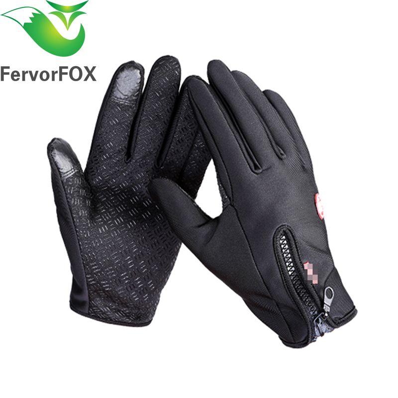 FervorFOX Brand Women Men M L XL Ski Gloves Snowboard Gloves Motorcycle Riding Winter Touch Screen Snow Windstopper Glove
