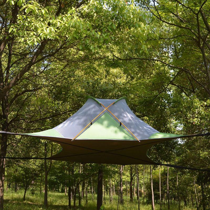 220*200 cm Ausgesetzt Baum Zelt Ultraleicht Hängen Baum Haus Camping Hängematte Wasserdicht 4 Saison Zelt für Wandern Rucksack