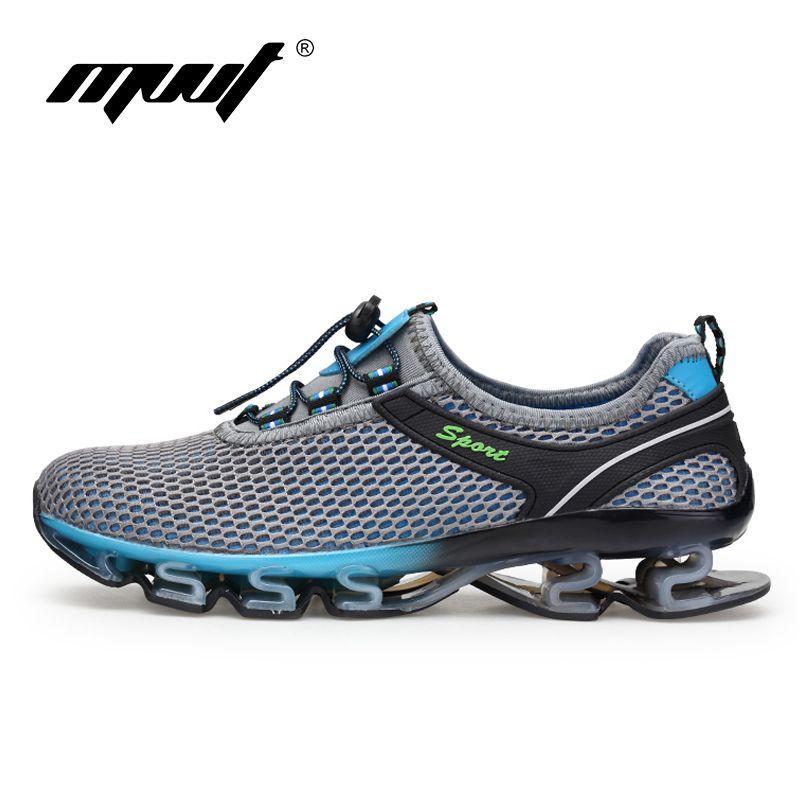 Super Cool respirant chaussures de course hommes sneakers rebond d'été en plein air sport chaussures de Formation Professionnelle chaussures plus la taille