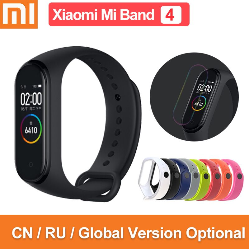Global version original xiaomi mi band 4 color screen 2019 latest music smart bracelet heart rate fitness 135mAh bluetooth 5.0