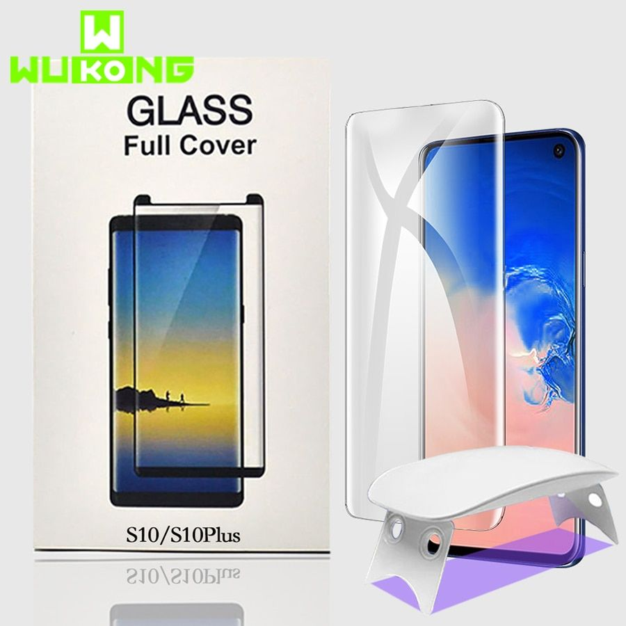 Protection d'écran UV pleine colle pour Samsung S10e Plus S8 S9 Plus Note 9 verre trempé couverture complète liquide de lumière UV pour Oneplus 7Pro