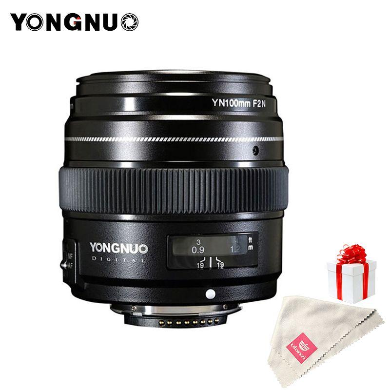 YONGNUO 100mm Lens F2N AF/MF Large Aperture Standard Medium Telephoto Prime Fixed Focal YN100mm Lens for Nikon D7200 D7100 D5600