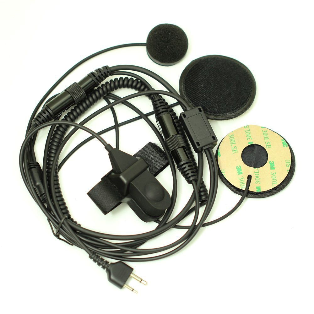 CES-2 pin two-way radios Full-face motorcycle moto bike helmet headset earphone microphone for Icom Maxon Yaesu vertex