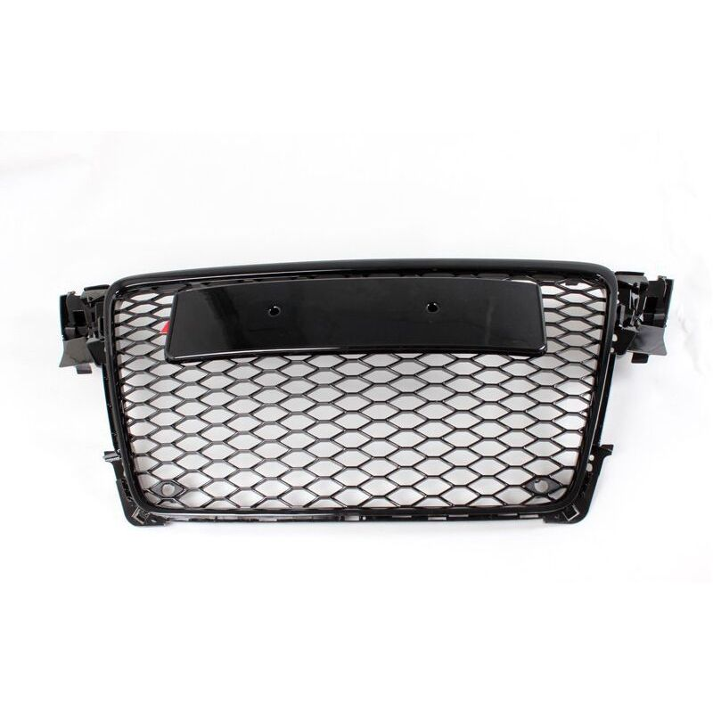 A4 B8 Black Frame with Black 4ring Front Bumper Mesh Grill Grilld For Audi A4 S4 RS4 2009 2010 2011 2012