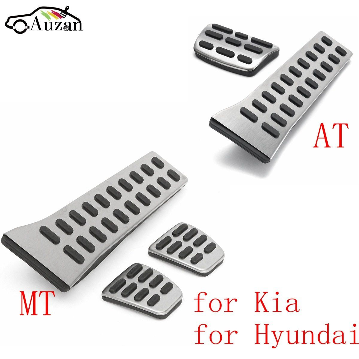 MT AT Car Accelerator Gas Fuel Brake Clutch Foot Pedal Cover For KIA Sportage QL <font><b>2016</b></font> 2018 for Hyundai Sonata Fe