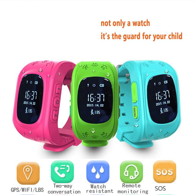 Smart Uhr Mädchen Q50 Touch Screen GPS Anti-verlorene Sos-ruf Kind Tracker ChildrenRemote Monitor Kind Guard Android Smartwatch