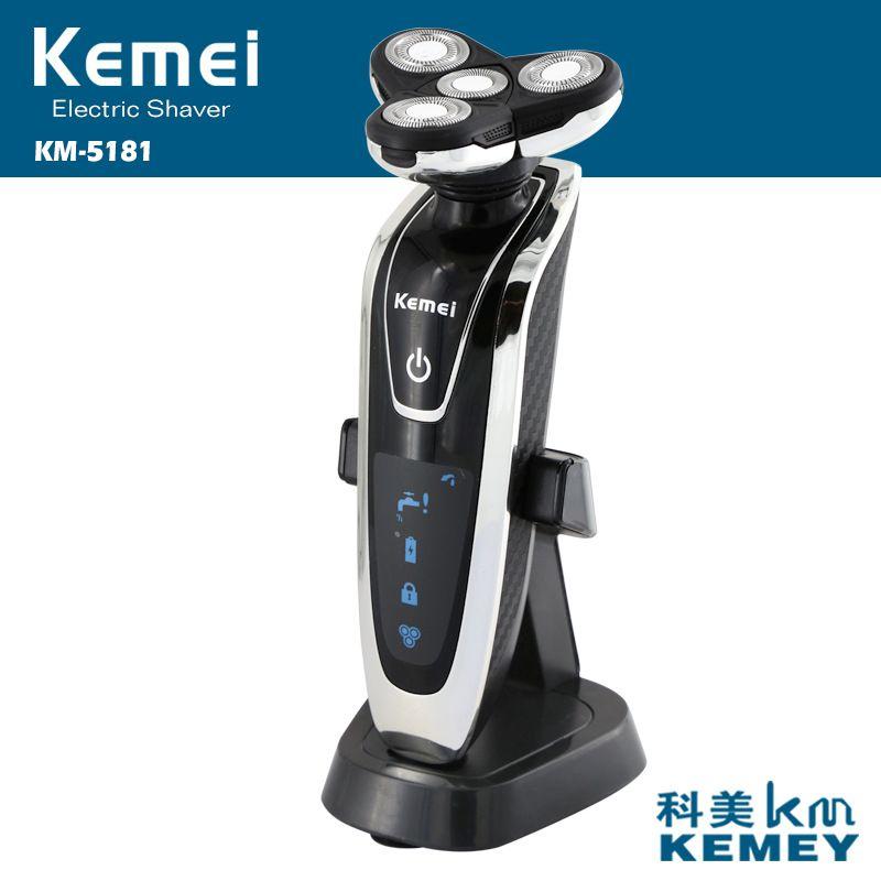 Kemei Rasoir Électrique 3d Quatre Lame 4 dans 1 Épilation charge type Nez et Tondeuse Rechargeable Brosse À Dents Barbeador