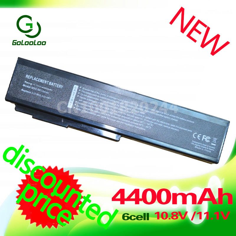 Golooloo 6 cell laptop battery for asus A32-N61 A32-M50 A33-M50 M50 M50S M50SV M50Sr N61 N61J N61D N61V N61VG N61JA N61JV G50V
