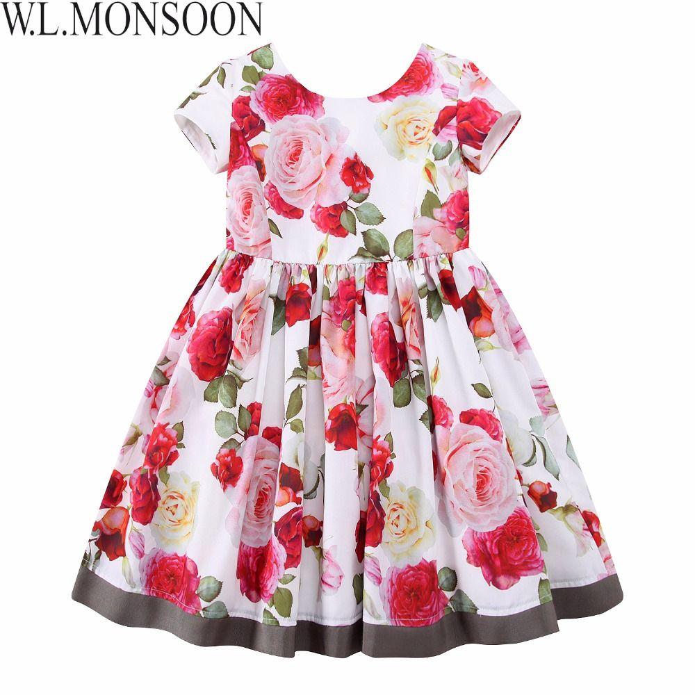W. l. monsoon/Цветочное платье для девочек Лето 2017 бренд