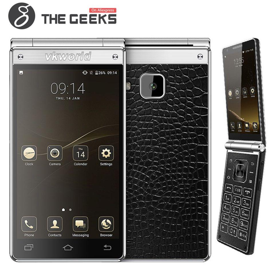 Vkworld T2 Plus 3GB RAM 32GB ROM MTK6737 1.25GHz Quad Core 4.2 Inch WXGA IPS Dual Screen Android 7.0 4G LTE Flip Smartphone