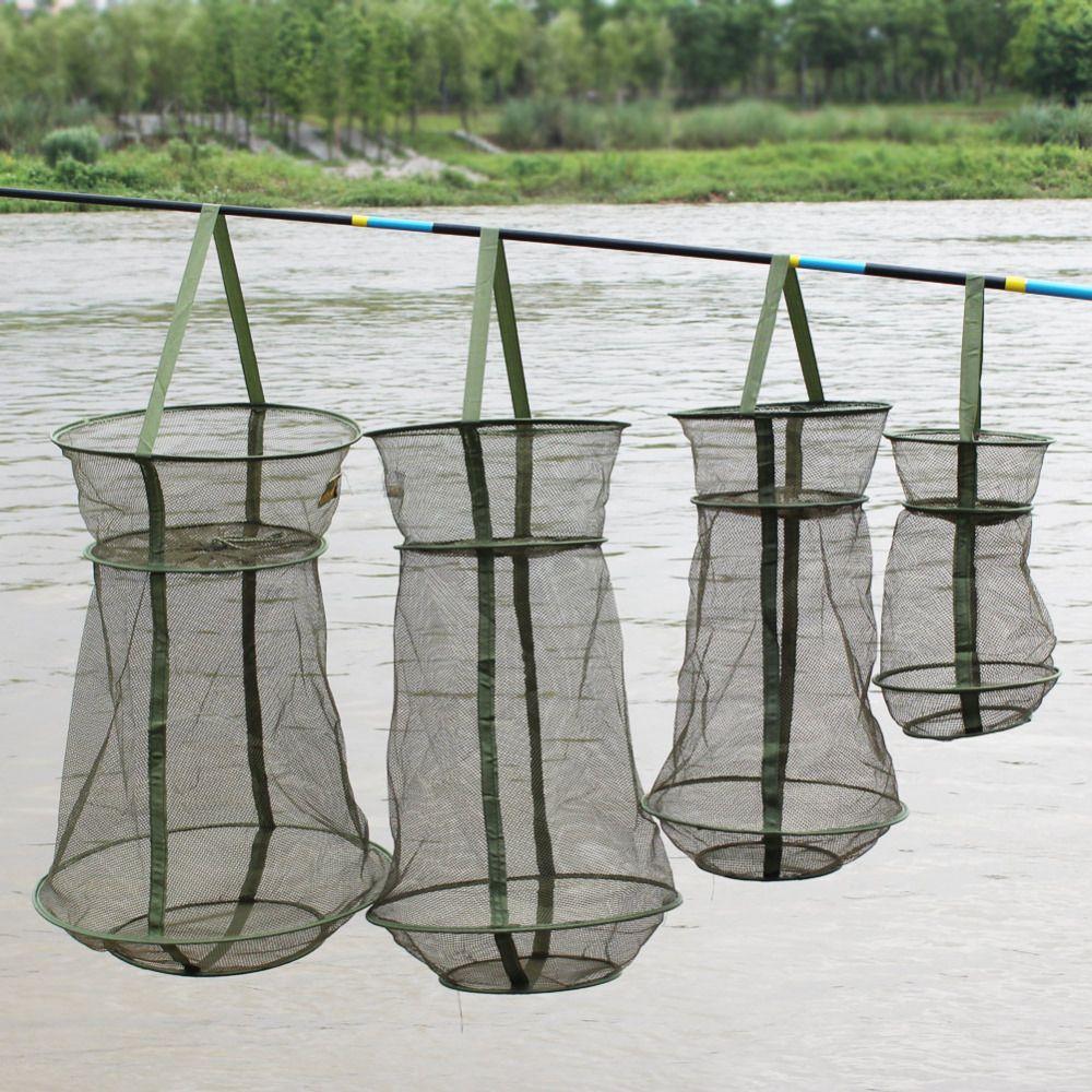 Sougayilang 4 größe tragbare fisch net 3 schicht runde klapp mesh fisch 25 cm 35 cm 42 cm 50 cm günstige fischernetz