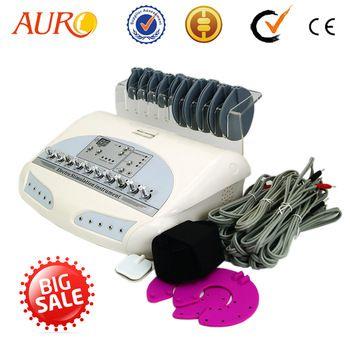 AURO Beauty Free Shipping Salon Electro Muscle Stimulator Electrical EMS Weight Loss Massager Body Vibration Massage Machine