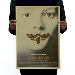 The Silence of the Lambs Vintage Kraft Paper Classic Movie Poster School Office Decoration Retro Posters and Prints