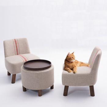 Pastorale style de tissu canapé, canapé en bois ensemble, loisirs chaises, meubles de salon, Japonais style canapé, 100% coton salon canapé