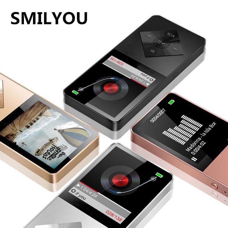 SMILYOU Lautsprecher metall mp4 Player 4 GB 8 GB 16 GB HIFI Verlustfreie Sound musik legierung mp4 Musik-player FM Radio Voice Recorder E-Book