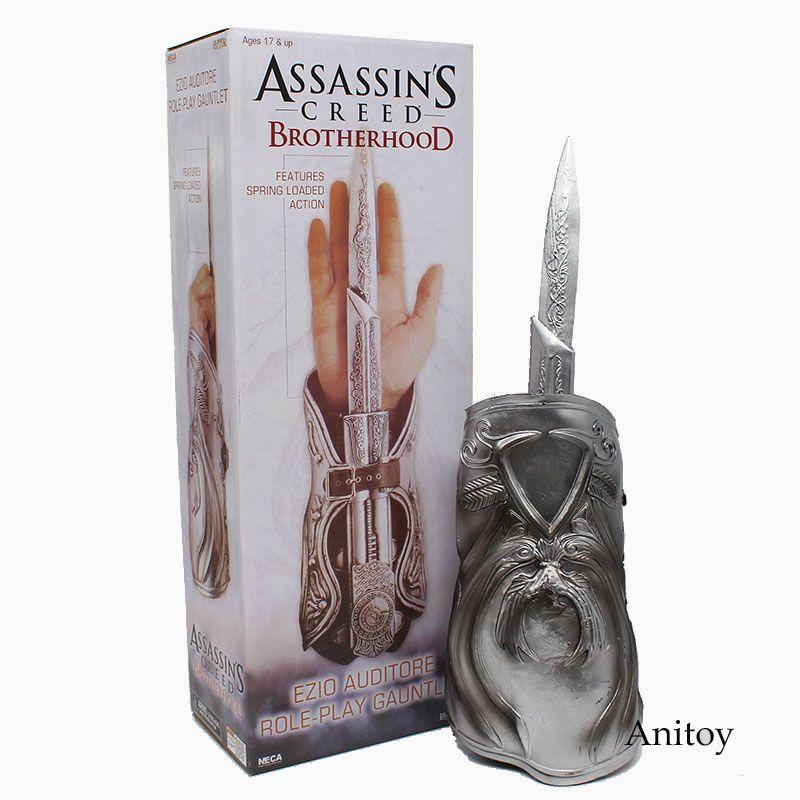NECA Assassin's Creed Hidden Blade Brotherhood Ezio Auditore Gauntlet Replica Cosplay #AC002