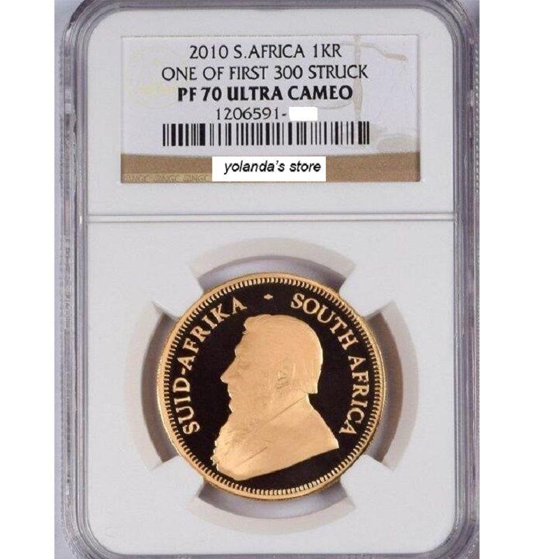 2010 wolfram münze überzogene 1,5 gramm. 999 feine gold Südafrika-krugerrand abgestuften PF70 1 troy Unzen. in origanl fall