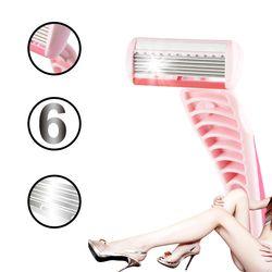2018 New Brand Names Sharpener 2 pcs/Set women 6 Layer Blades shaving razor blades for women girl lady pubic shaving women