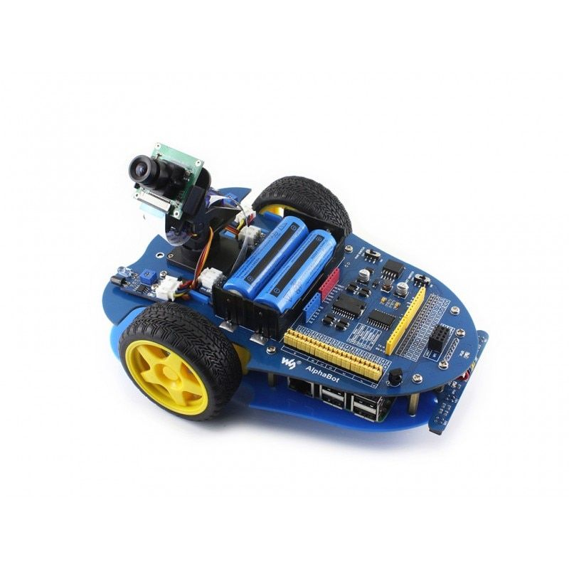 AlphaBot-Pi Framboise Pi robot kit de construction: D'origine L'etat Element14 Raspberry Pi 3 Modèle B + AlphaBot + Caméra, avec adaptateur US/UE
