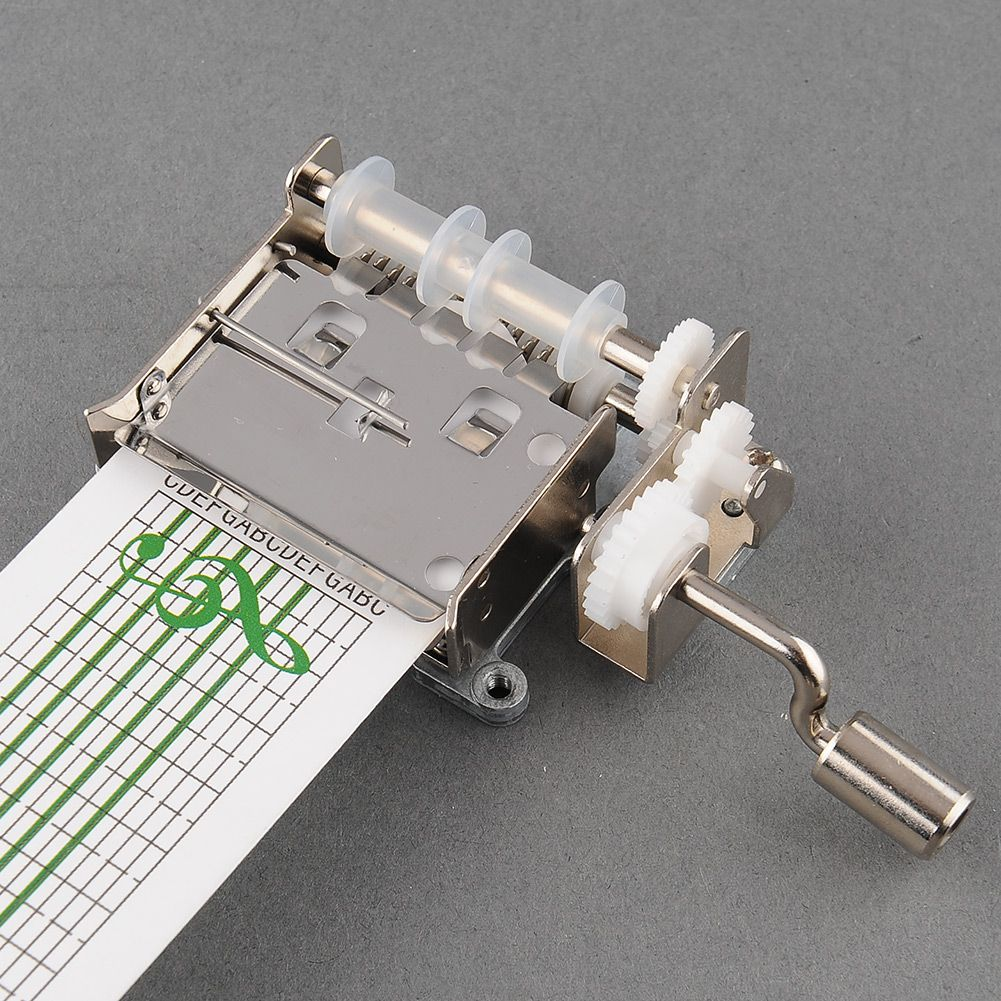 New DIY Hand Crank Mechanical Musical Box with Hole Puncher 20 Note Paper Strips <font><b>Gift</b></font> Make Your Own Song