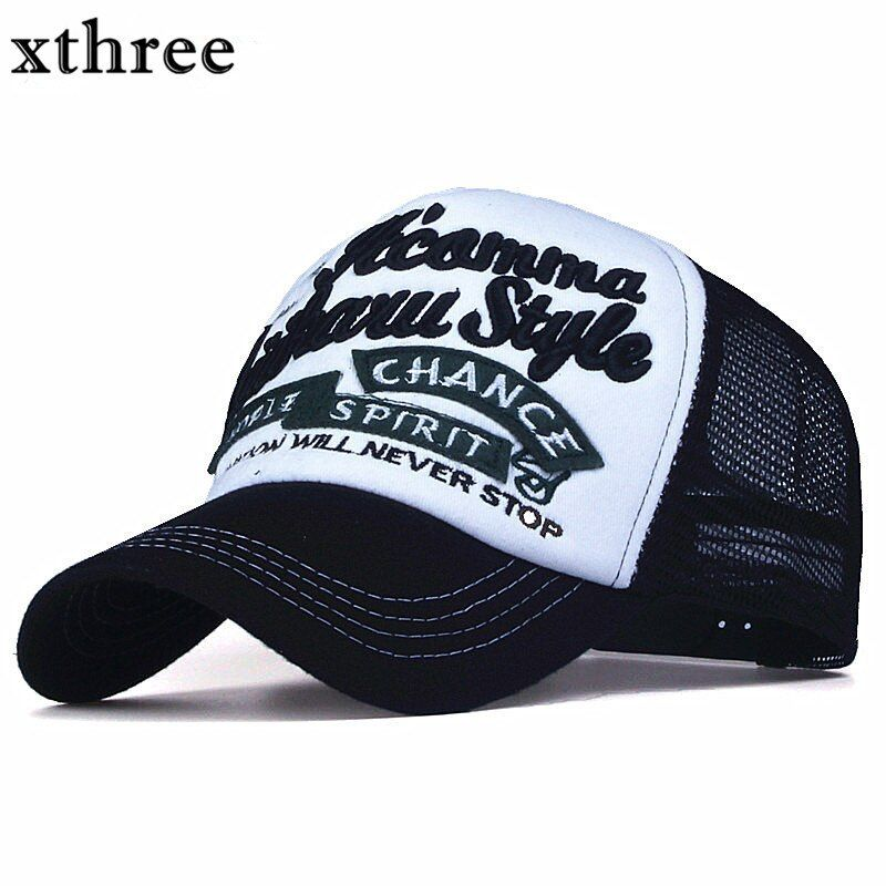 Xthree Neue 5 platten stickerei sommer baseball-cap casual brei kappe männer hysteresenhut für frauen casquette gorras
