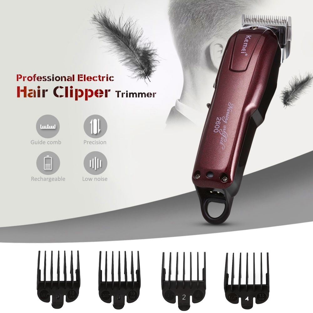100-240V Kemei Professional Hair Clipper Electric Hair Trimmer Powerful Hair Shaving Machine Hair Cutting Beard Electric Razor