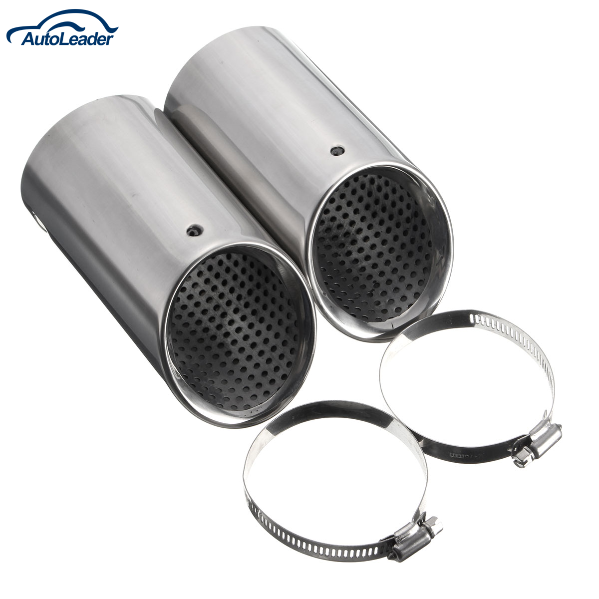 1 Pair Chrome Exhaust Tail Muffler Pipes Tips for VW/EOS /Passat B6 CC for Estate