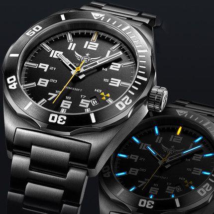 YELANG V1014 mens steel & leather watchband waterproof 100m tritium gas self luminous business automatic mechanical watch