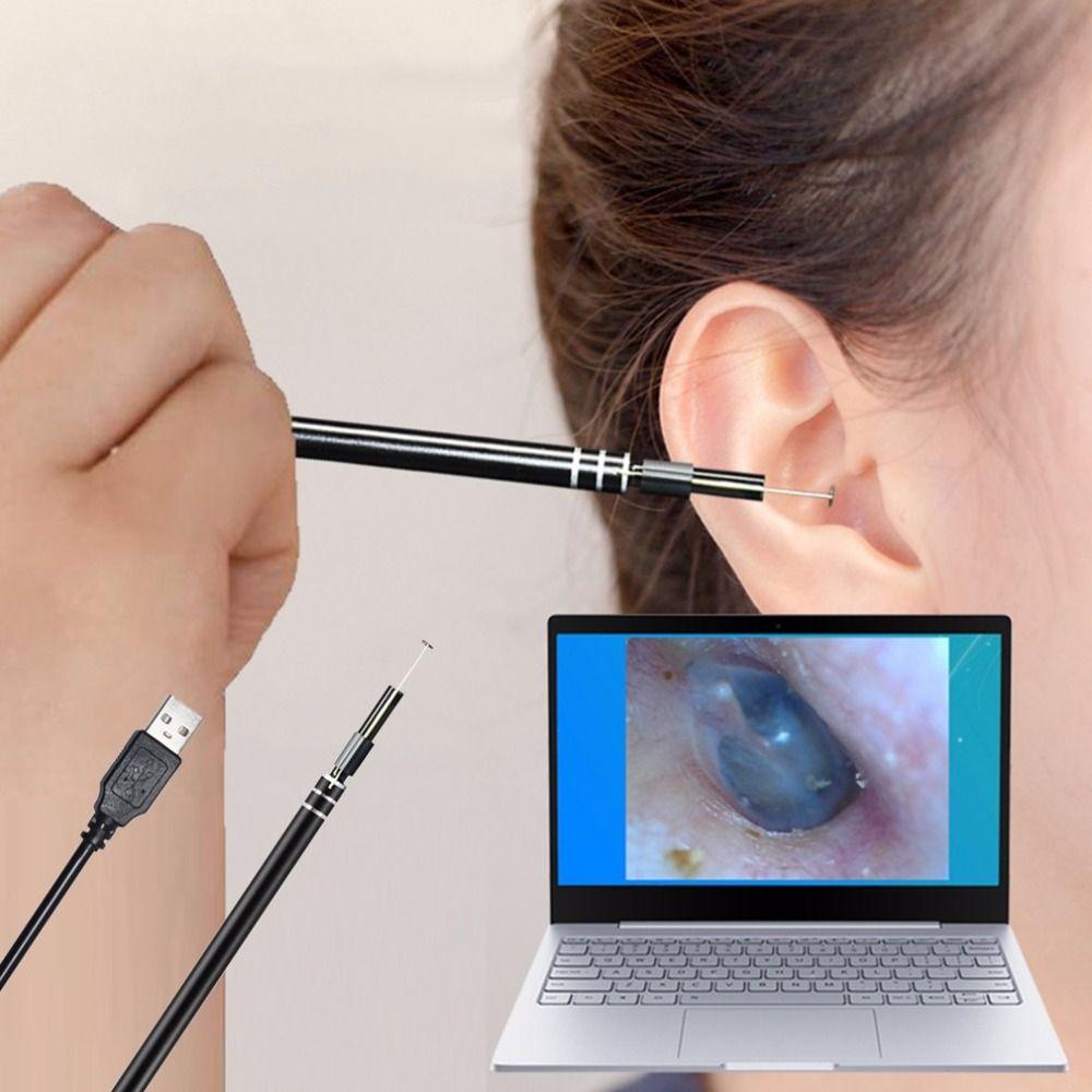 2018 USB oreille outil de nettoyage HD oreille visuelle cuillère multifonctionnel Earpick avec Mini caméra stylo oreille soins dans l'oreille nettoyage Endoscope