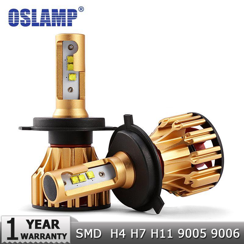 Oslamp H4 H7 ampoules de phares LED H11 9005 9006 SMD Puces 70W 7000LM 6500K Voiture LED H1 Auto Phares Phares lumière LED 12v 24v