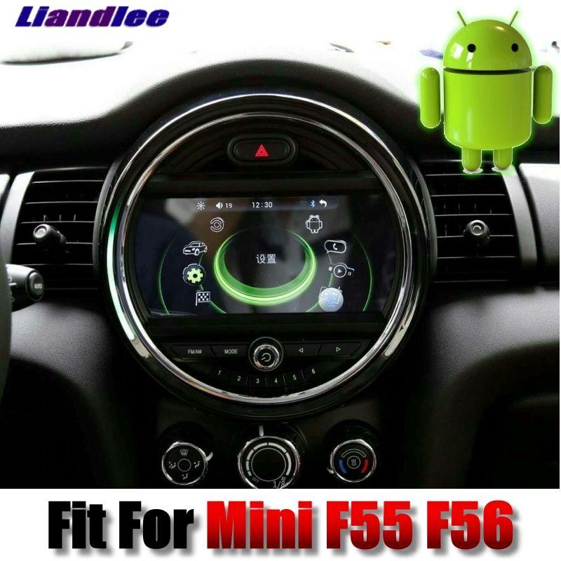 Für Mini One Cooper Luke F55 F56 2014 ~ 2018 Liandlee Android-system Auto Multimedia iDrive Taste Auto Radio Stereo GPS Navigation