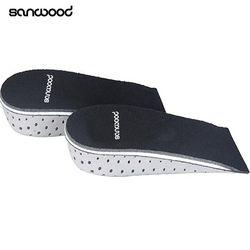 New Trendy 1Pair Unisex 2.3-4.3cm Memory Foam Height Increase Half Shoe Insoles Inserts