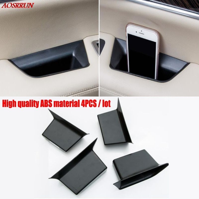 fit For Cadillac XT5 2016 2017 ABS Inner Door Armrest Storage Box Cover 4pcs car-styling car Accessories automobiles accessory